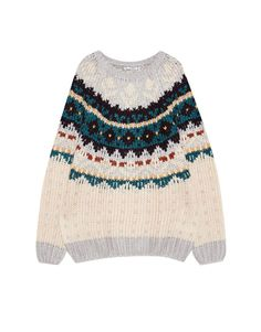 Handmade jacquard sweater - Knit - Clothing - Woman - PULL&BEAR Ukraine