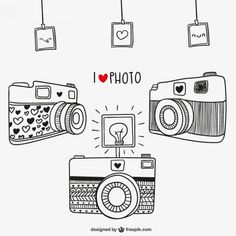 I love photography free vector Dslr Photography Tips, Love Photography, Doodle Drawings, Doodle Art, Camera Drawing, Camera Sketches, Sketch Note, Doodles, Lettering Tutorial