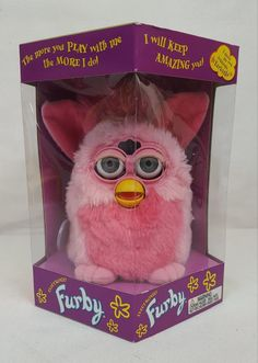 RARE Vintage 1999 Tiger Electronics FURBY Flamingo PINK Model 70-800 NEW in BOX | #1905211836
