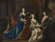 Jan Philips van der Schlichten: Kurfürstin Elisabeth Auguste von der Pfalz und ihre beiden Schwestern beim Musizieren