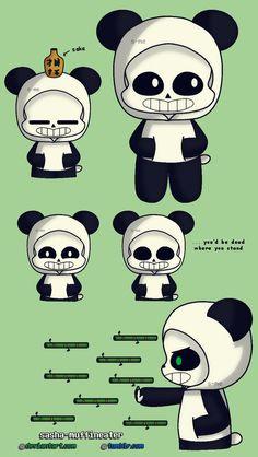 [UNDERTALE] Panda!Sans doodle by Sasha-MUFFINEATER on DeviantArt