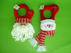 Homemade Christmas Door Hanger Decoration Ideas