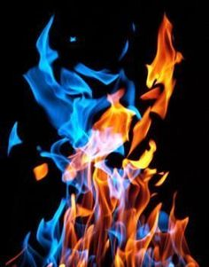 red yellow blue flames | Want to turn the annual campfire from a boring activity into a whole ...