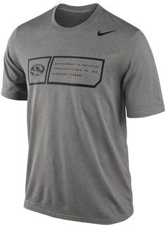 They say legends are made. Start your own in this men's Nike Missouri Tigers performance top. Featuring an official team logo graphic. Product Features Dri-FIT Crewneck Short sleeves Polyester Machine wash Imported