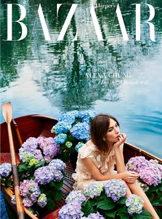 Alexa Chung for Harper's Bazaar July cover shoot, pictures and interview | Harper's Bazaar -  Fashion loves Flowers