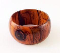 Wood Bracelet No. 131101  Cocobolo by conreysa on Etsy, $55.00