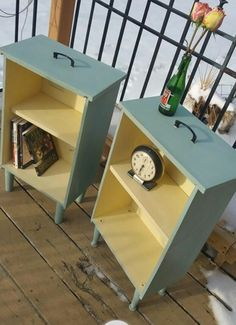 Nightstand made out of drawers