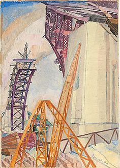 Grace Cossington Smith  The Bridge in Building  1929-30
