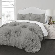 Better Homes and Gardens Kids Ruffled Flowers Bedding Comforter Set - Walmart.com