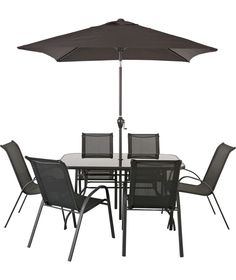 Garden Furniture 6 Chairs malmo wooden 6 seater garden furniture set | teak, gardens and