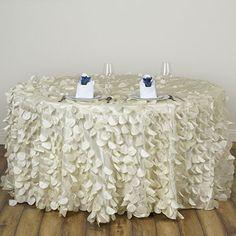 Efavormart Vibrant Flamingo Petals 120 Round Tablecloth Ivory