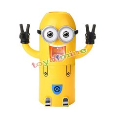Two Eyes Despicable Me Minions Automatic Toothpaste Dispenser Toothbrush Holder | eBay