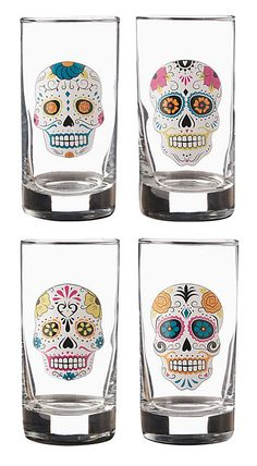 Sugar Skull Glasses from Paper Source, 2013