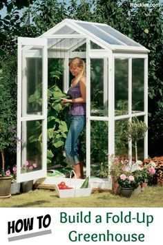 Building an Easy to Store Fold-up Greenhouse Project. Rockler.com #greenhouseeffect