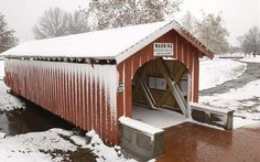 Ironically, it was necessary to shovel snow onto covered bridges in the winter to let sleighs and other horse-drawn vehicles pass over them. This one near Fiddler's Green
