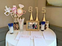 bubble bar bridal shower photo booth props