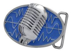 Blue Retro Vintage Microphone Belt Buckle Old Sing Hip Musician Music Lover Cool -- For more information, visit image link.(This is an Amazon affiliate link and I receive a commission for the sales)
