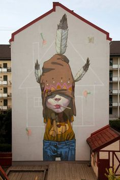 """""""The Last Mohican"""" by SAINER - Oslo, Norway, 2013 - Artwork by ETAM CRU (Sainer and Bezt)"""
