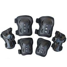 Eruner Children's Roller Blading [Knee Pads] - 6 Pcs Knee Wrist Elbow Pads Guard Skating Ski Biking Protective Gear (Black) Eruner http://www.amazon.com/dp/B00UV6M3FS/ref=cm_sw_r_pi_dp_vHahvb05HF3M5