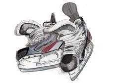 Hockey Skates by longbluestraw on Etsy, $14.00