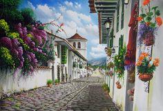Pinturas de Paisajes Campesinos Colombianos | Imágenes Arte Temático