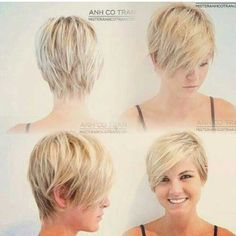 Blonde Pixie Haircut for Round Face, but shorter in the back