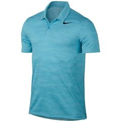 Nike Men's Icon Dri-fit Golf Polo (€64) ❤ liked on Polyvore featuring men's fashion, men's clothing, men's shirts, men's polos, vivid sky, mens camo shirts, mens camo polo shirts, mens dri fit polo shirts, mens golf shirts and mens polo shirts