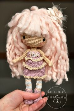 Crochet doll for little princess no pattern