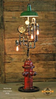 Steampunk Industrial / Fire Hydrant / Floor Lamp / Service Station Sha