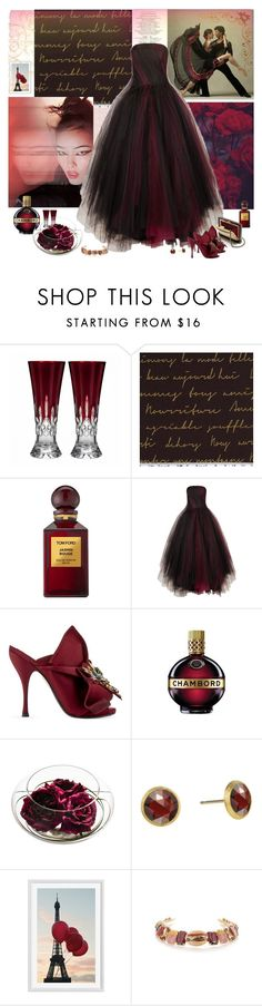 """""""Moments to Midnight"""" by molly2222 ❤ liked on Polyvore featuring Waterford, Tom Ford, Oscar de la Renta, Chanel, N°21, Marco Bicego, Pottery Barn, Bijoux de Famille and oscardelarenta"""