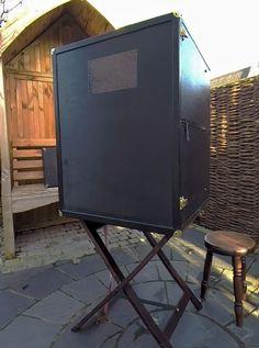 Folding portable darkroom Nomadic Furniture, Picture Storage, Wet Plate Collodion, Box Camera, Bushcraft Camping, Cameras, Photo Editing, Truck, Alternative