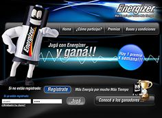 Energizer, cool design, activación online