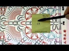 korea/crochet shawl(파란색 숄 코바늘무늬) - YouTube