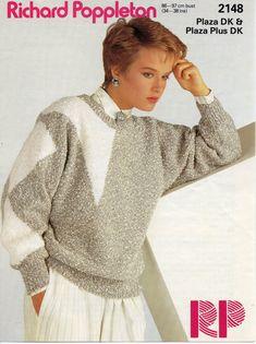 womens sweater knitting pattern geometric sweater by Hobohooks