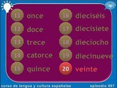 Numbers in Spanish Video Los números en español - YouTube
