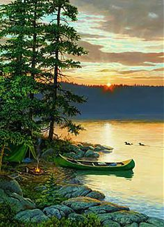 'Canoe Lake' by Persis Clayton Weirs
