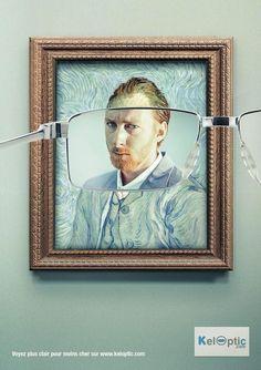 Une publicité originale qui allie art & humour à travers le célèbre autoportrait de Vincent Van Gogh | Keloptic.com