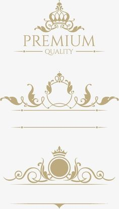 Crown european pattern vector design material Vector and PNG Lettering Styles, Hand Lettering, Vector Design, Graphic Design, Cake Logo Design, Boarders And Frames, Luxury Logo, Ornaments Design, Gold Pattern