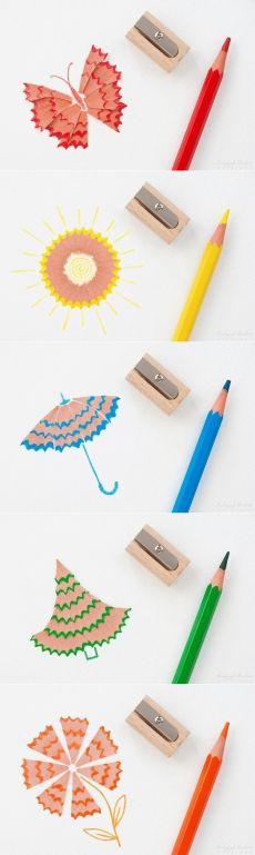Поделки из стружек от карандашей