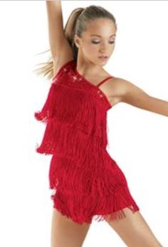 Red flow dress