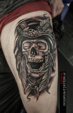 Card Tattoo, Tattoos For Guys, Skull, Ink, Tattoos For Men, India Ink, Skulls, Sugar Skull