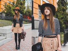 Women Fashion Casual Loose Round Neck Long Sleeve Stripe Stretch A-Line T Shirt Tops
