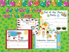 Classroom Freebies Too: End of Year Celebration Invites
