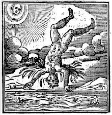 La chute d'Icare, Livre d'emblèmes d'Andrea Alciato, gravé par Jörg Breu