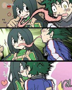 ❤ deku and froppy ❤ my hero academia My Hero Academia Tsuyu, My Hero Academia Shouto, Hero Academia Characters, Anime Characters, Thicc Anime, Otaku Anime, Anime Demon, Anime Art Girl, Anime Girls