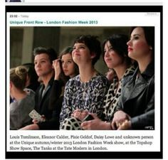That awkward moment when they recognize Eleanor and don't recognize Demi Lovato. I love these people:)
