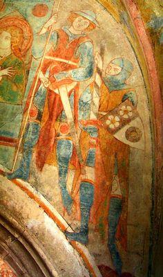 Fresco in Göttweigerhofkapelle, Stein, Österreich (1310)