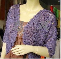 Crochet+Pineapple+Skirt+Pattern   sweater with pineapple motifs
