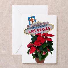 Las Vegas Merry Christmas Poinsettias Cards 10