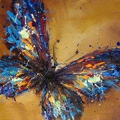 Pure Hand-painted Abstract Oil Painting On Canvas Butterfly / NO Frame (I would love to do something like this but with feathers instead of paint) Butterfly Painting, Butterfly Art, Butterflies, Butterfly Project, Oil Painting Abstract, Painting & Drawing, Oil Paintings, Olieverfschilderij Abstract, Painting Trees
